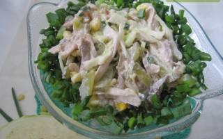 Салат из курицы с капустой