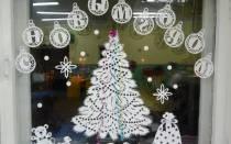 Новогодние вытынанки: фото шаблоны на окна