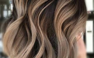 Модное мелирование на темных волосах