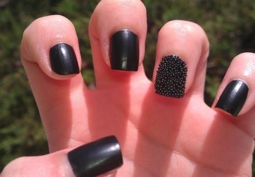 Черные ногти своими руками 80