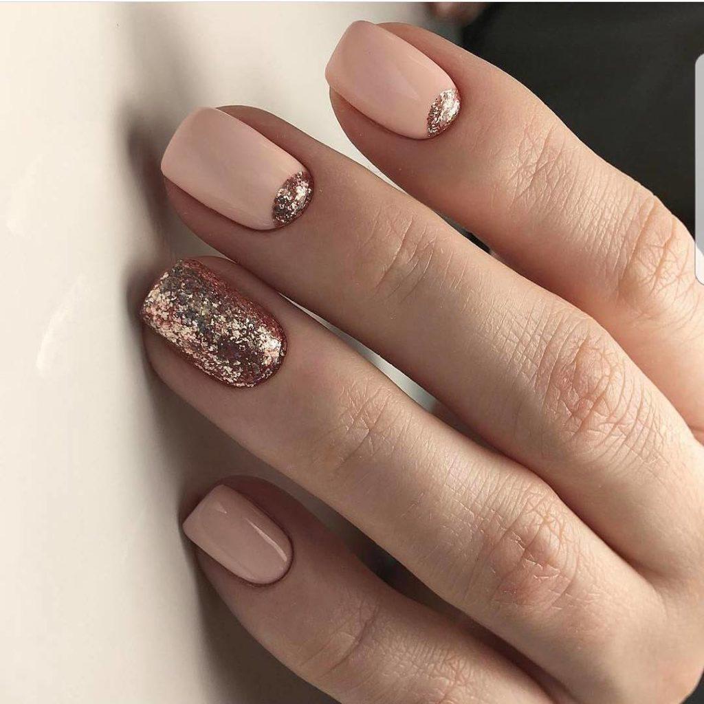 Красивый маникюр на короткие ногти фото дизайн 2018