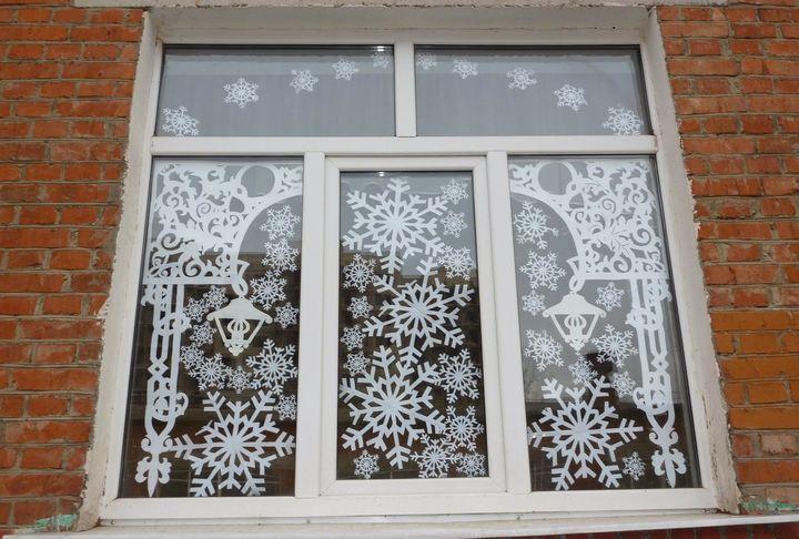новогодние вытананки на окна