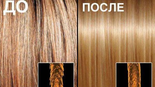 Как выглядят волоски до и после окончания экранирования
