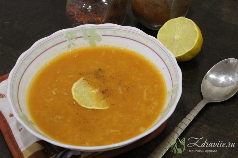 Турецкий суп из красной чечевицы рецепт