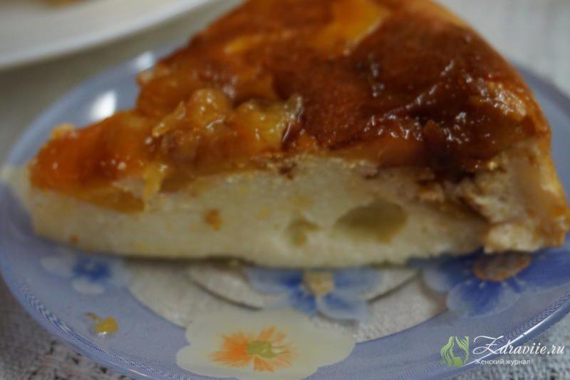 Запеканка творожная с персиками рецепт с фото