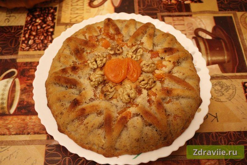 Манник с курагой и грецким орехом рецепт с фото