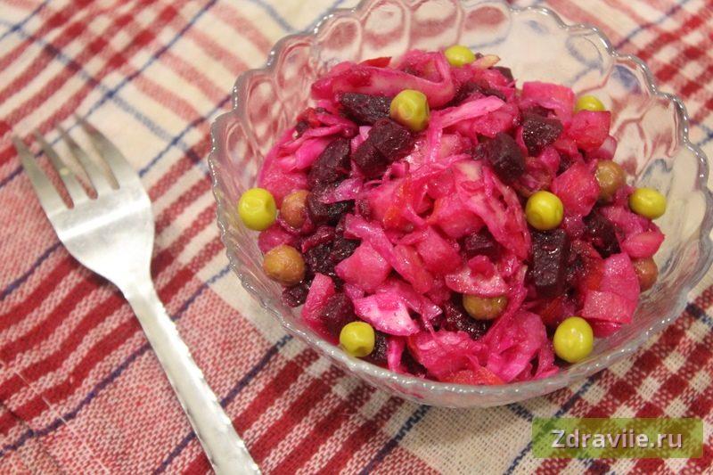 Винегрет с квашеной капустой - рецепт
