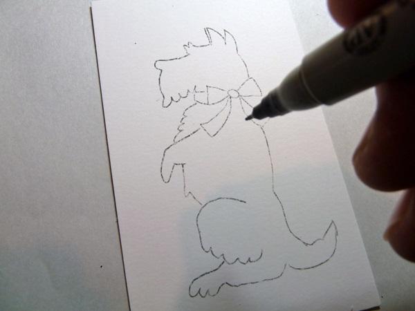 Открытка в форме собачки 1
