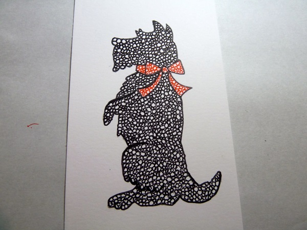 Открытка в форме собачки 2