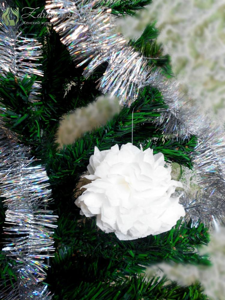 Снежный шар на Новый год своими руками