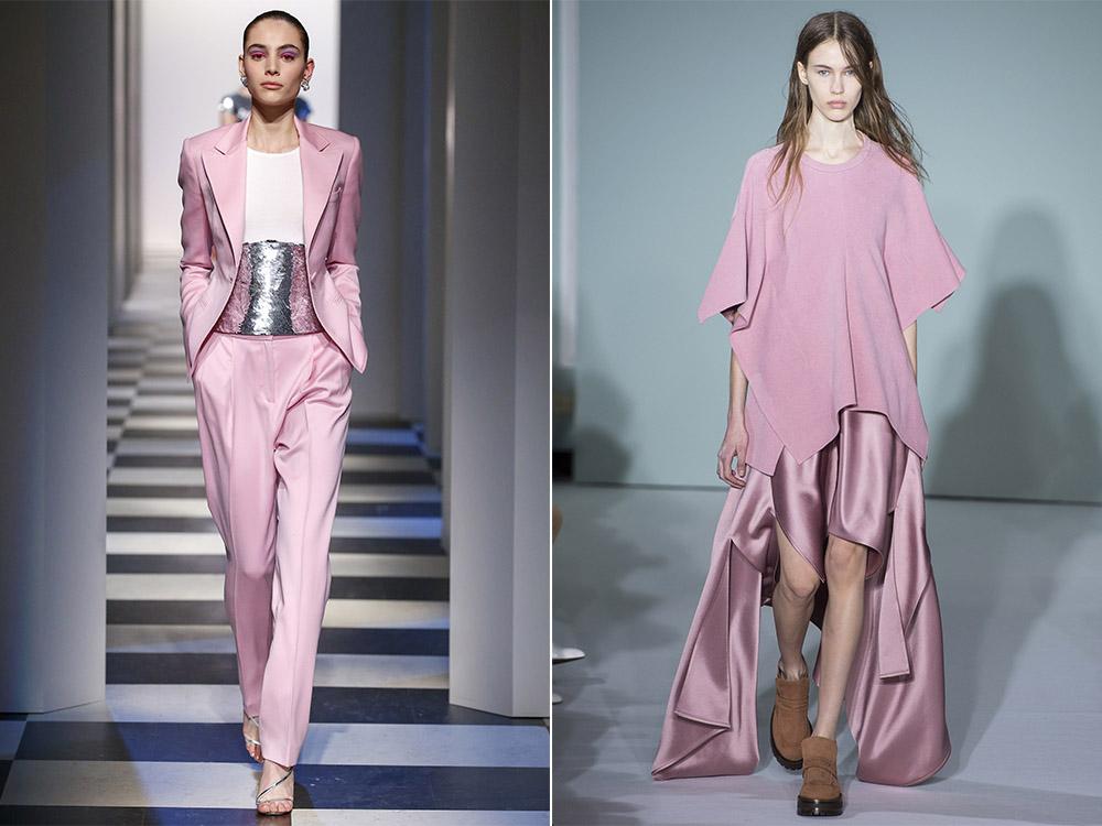 Стильный розовый цвет одежды