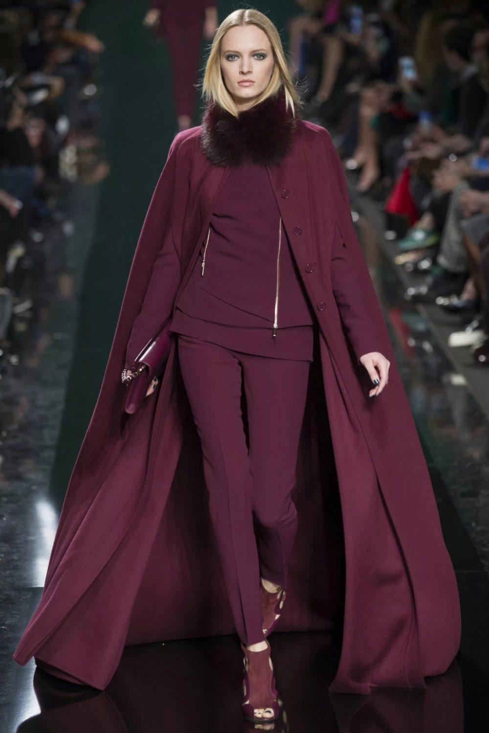 Удлиненный вариант пальто с мехом