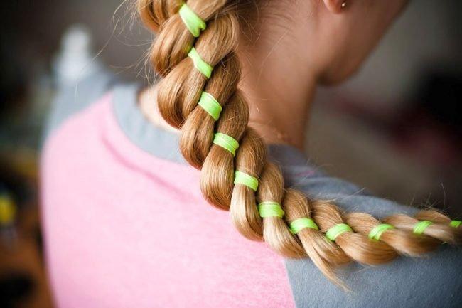 фото косы на длинные волосы 1
