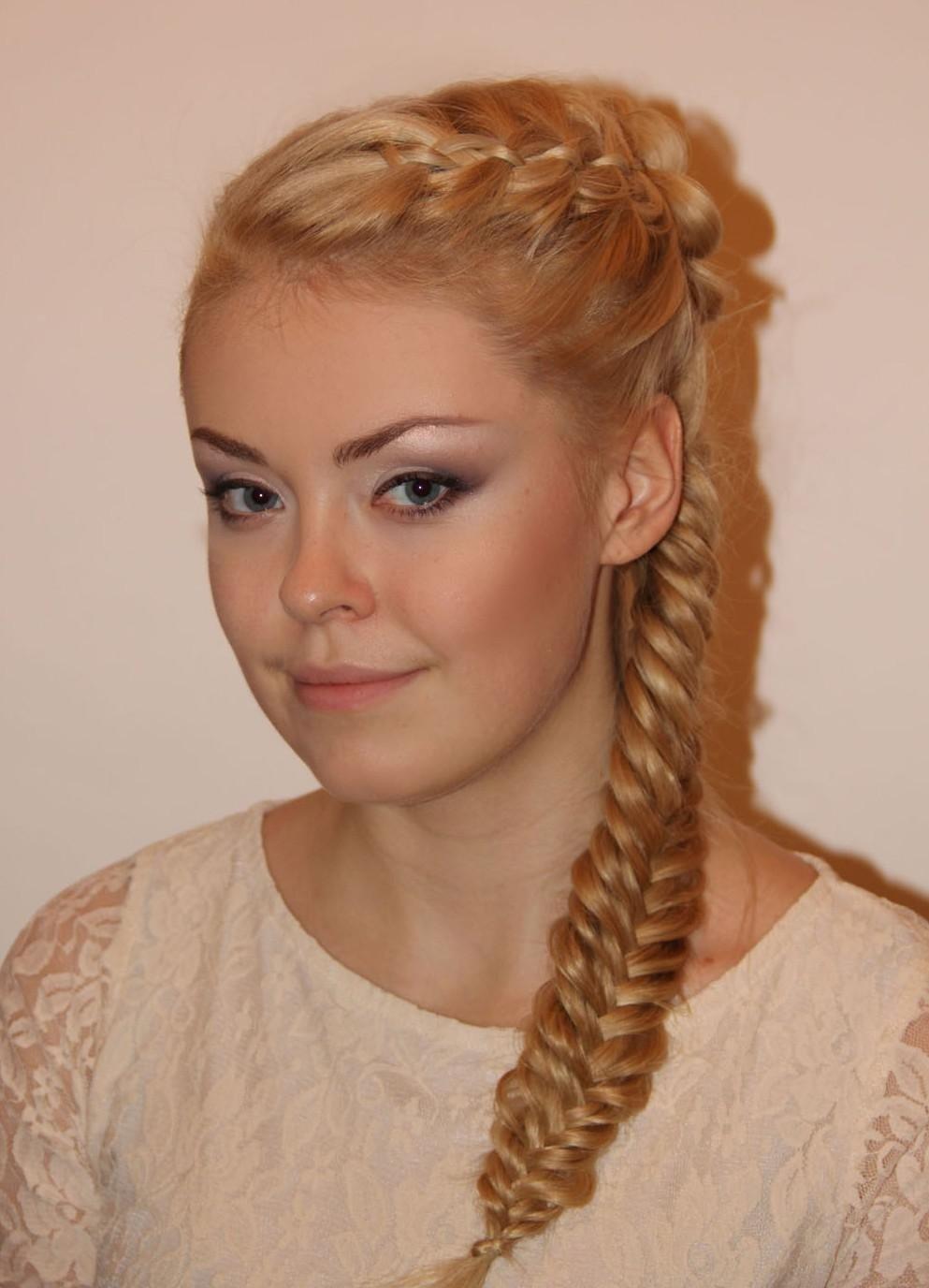 фото косы на длинные волосы 7