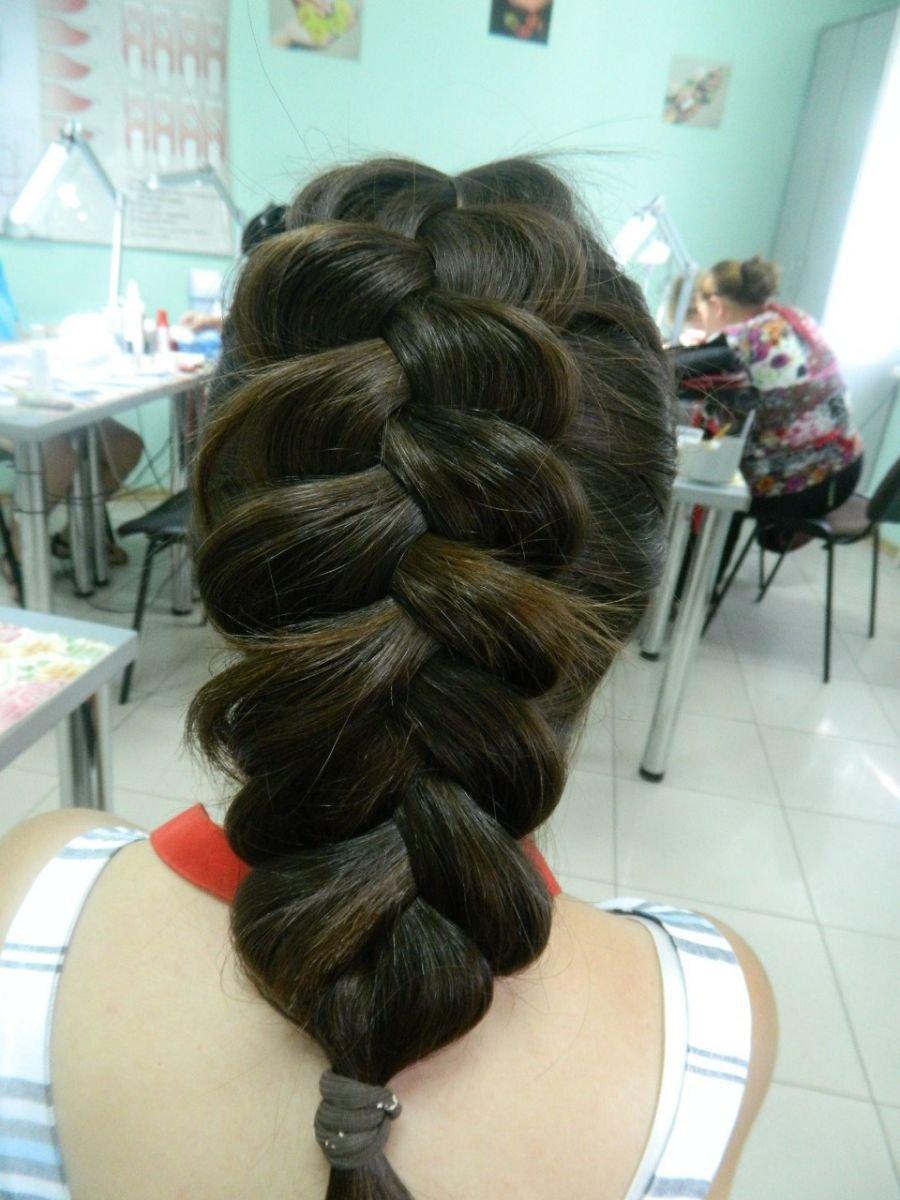 Обратная французская коса-1