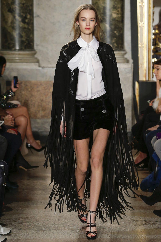Пальто с бахромой: осенняя мода