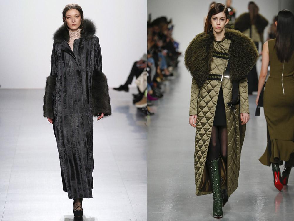 Трендовое пальто с меховой отделкой