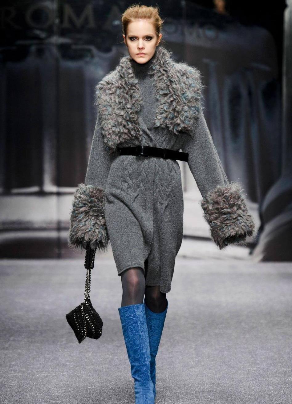 Меховая отделка: пальто осень-зима