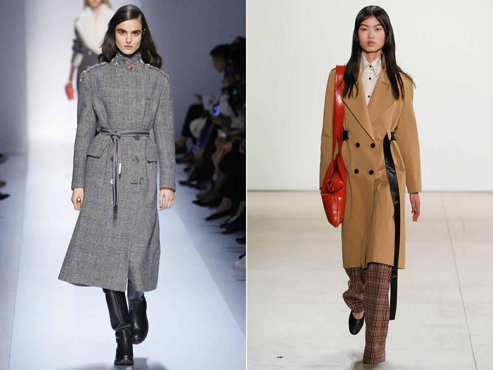 Удлиненное пальто под пояс