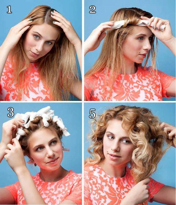 Как можно сделать себе кудряшки на волосах 944