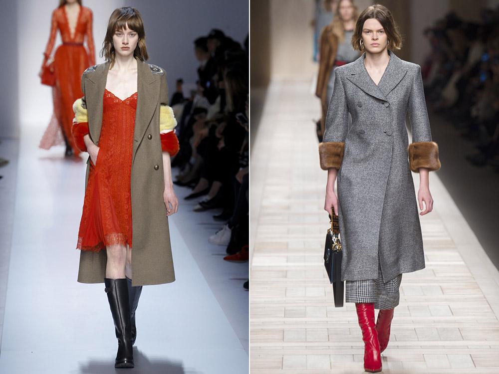 Пальто в пастельных тонах
