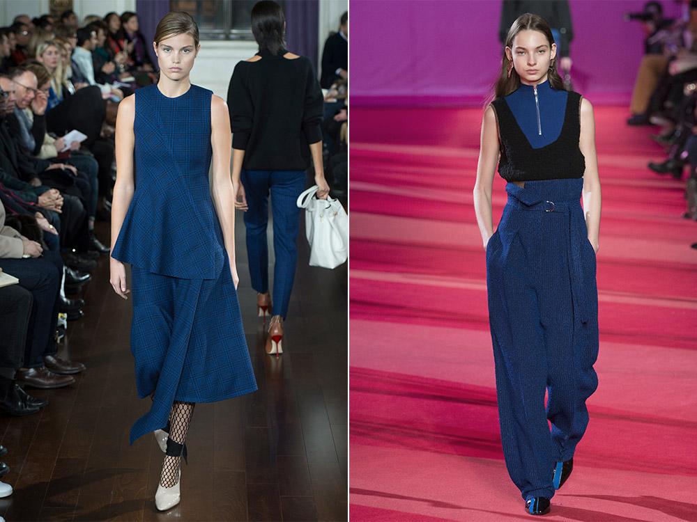 Трендовый синий оттенок одежды