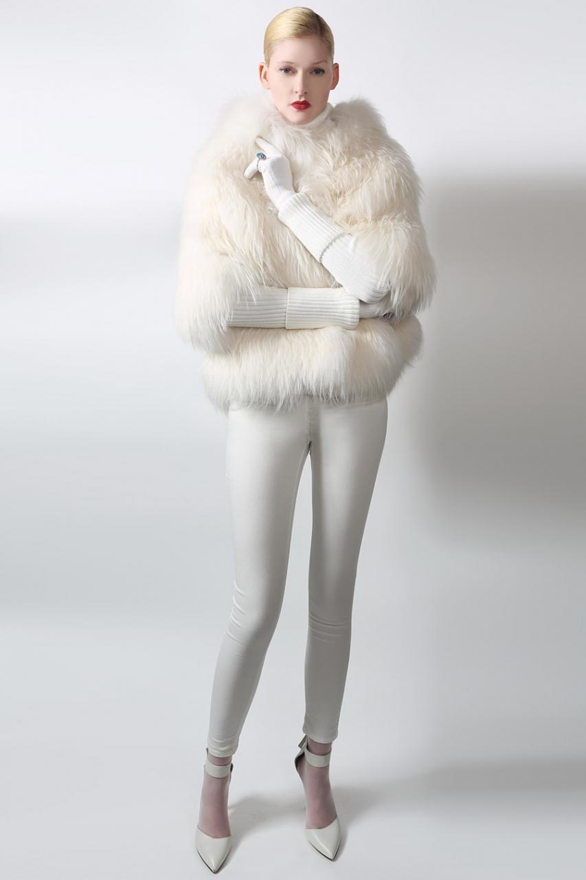 Белоснежная шуба на зиму