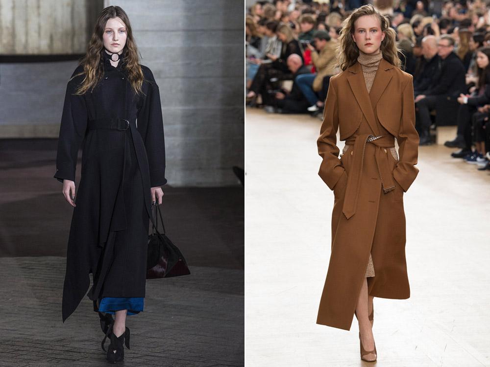 Стильные удлиненные варианты пальто