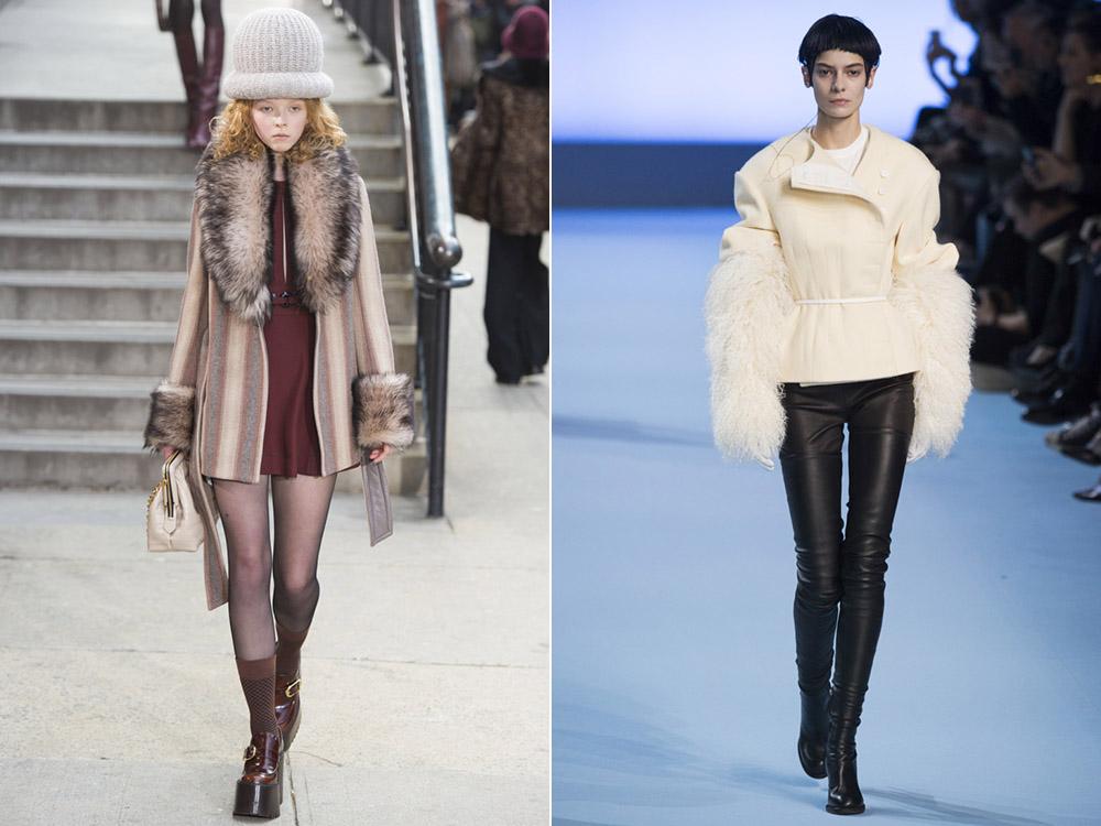 Короткие варианты пальто на осень