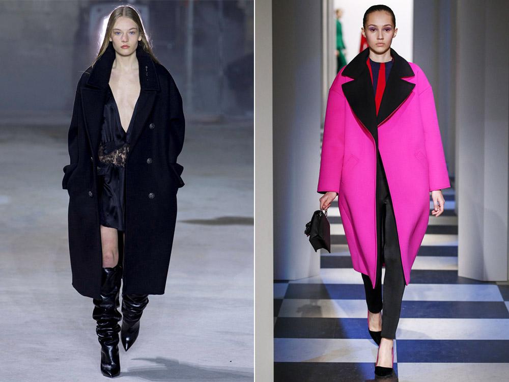 Яркие варианты осенне-зимних пальто