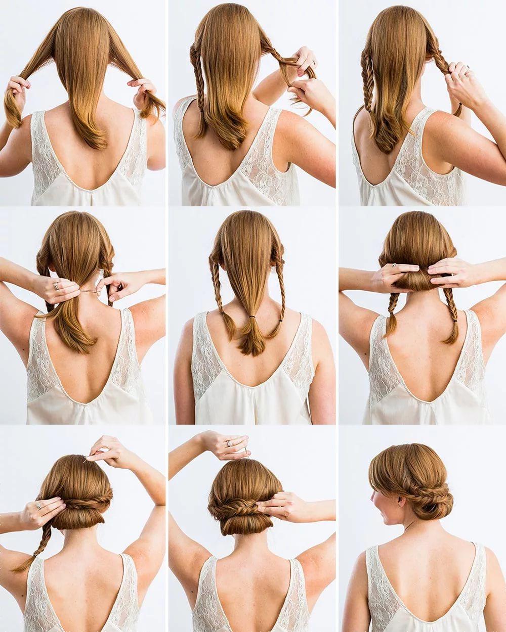 Красивые прически для средних волос своими руками 81
