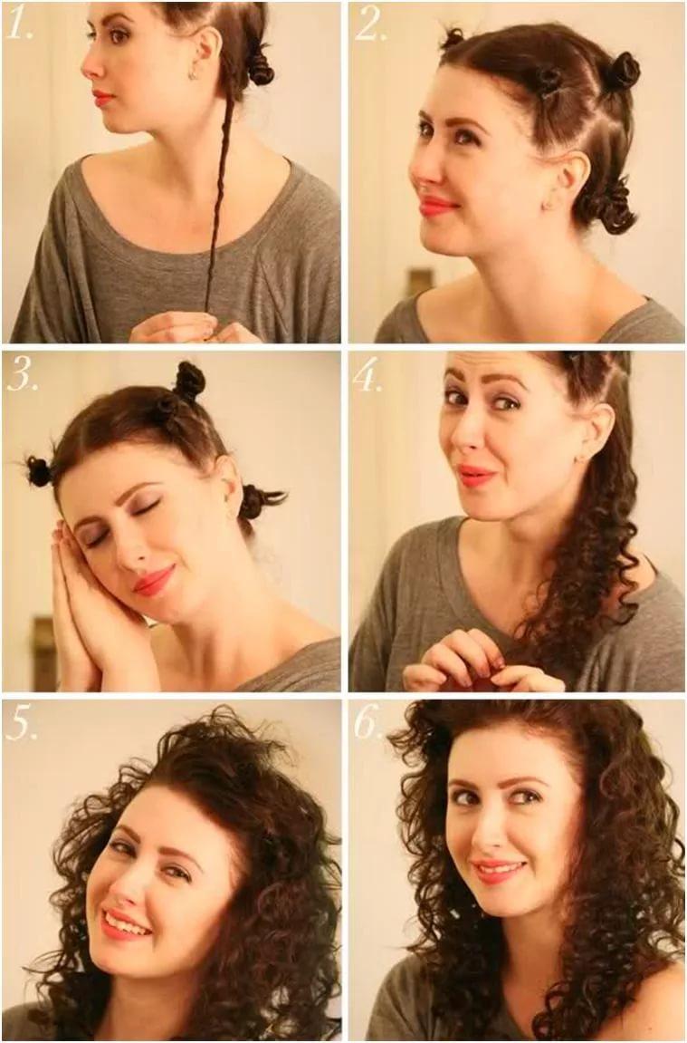 Как сделать прическу короткие волосы с кудрями