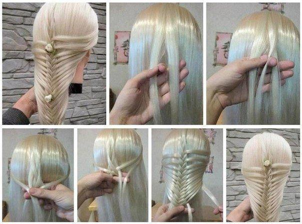 Простые прически на средние волосы своими руками - 1