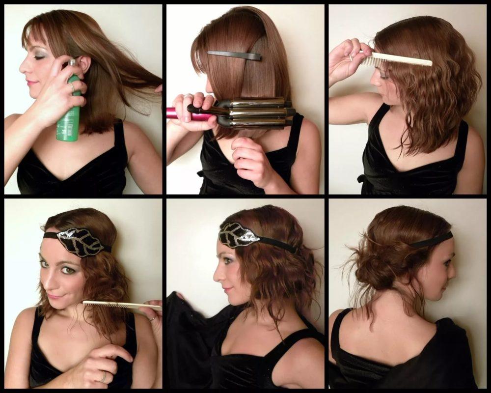 фото Простых причесок на средние волосы своими руками - 2