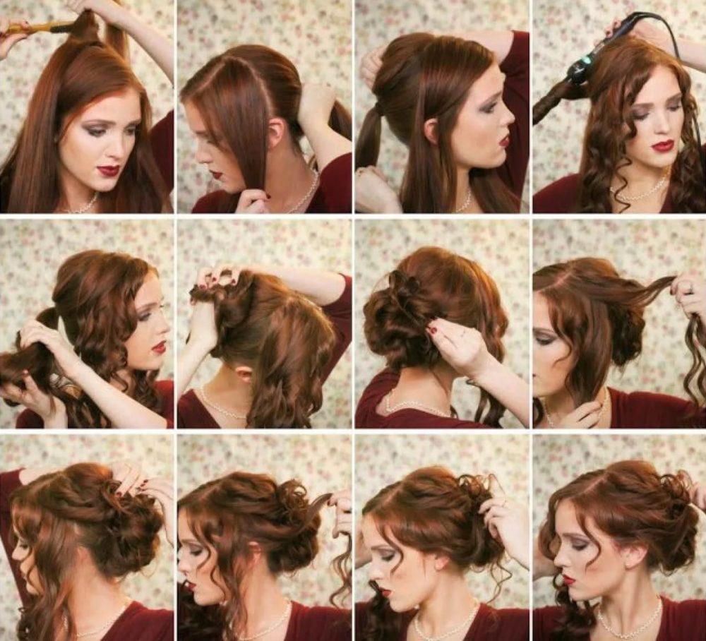 фото Простых причесок на средние волосы - 13
