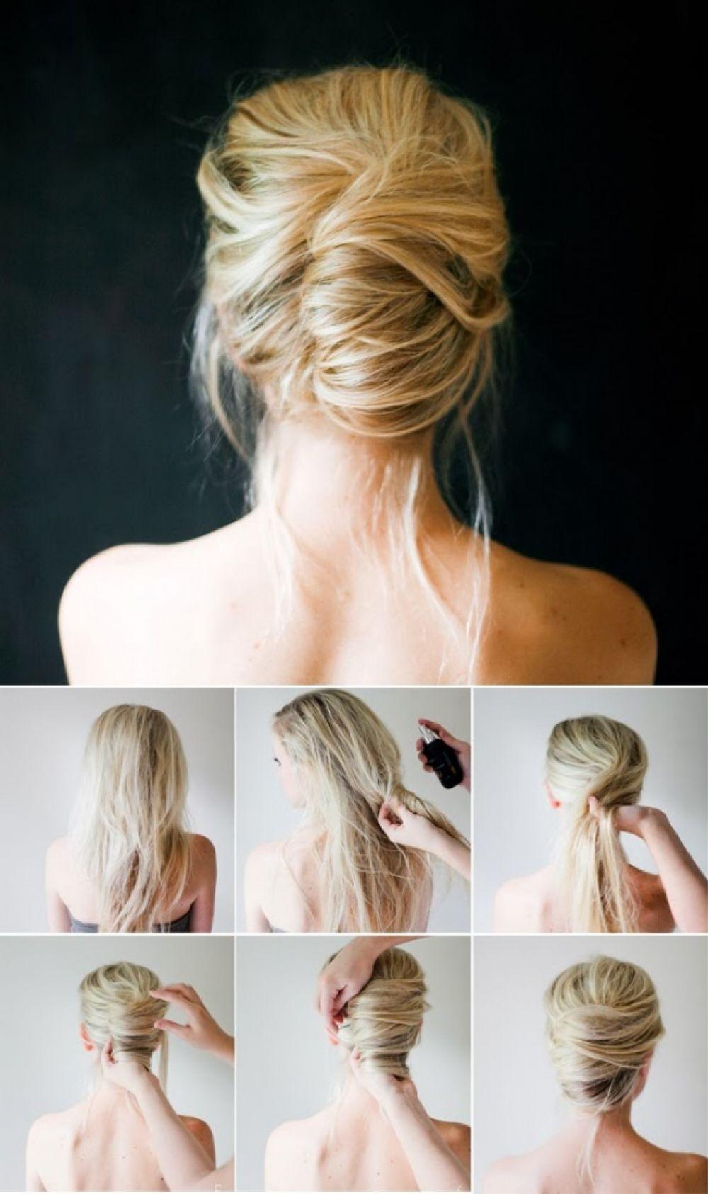 фото Простых причесок на средние волосы - 15