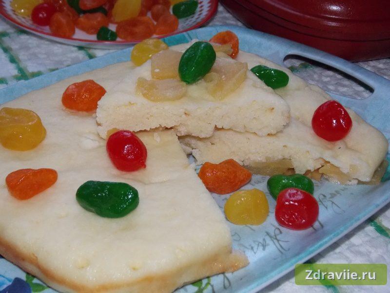 Творожная запеканка с яблоками - рецепт с фото
