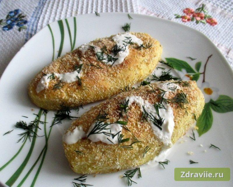 Зразы картофельные с сушёными опятами и морковью в духовке рецепт