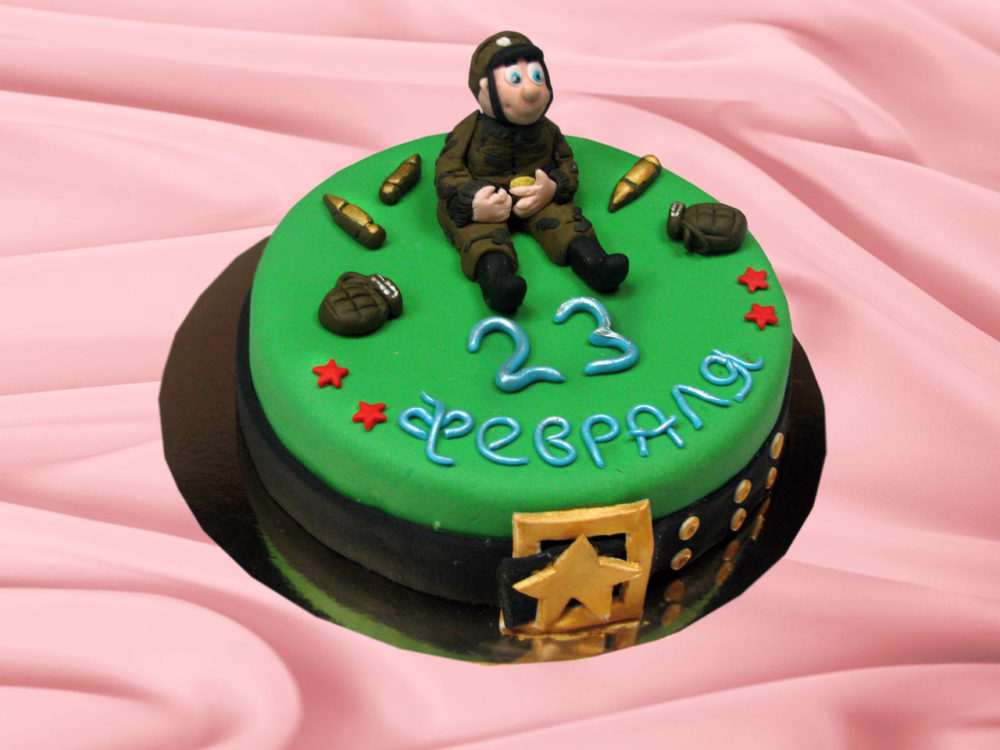 торт к мужскому празднику для коллег
