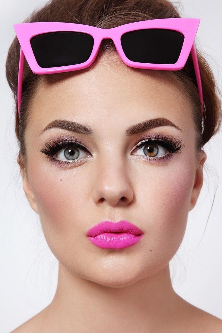 кукольный макияж с стиле Барби на выпускной