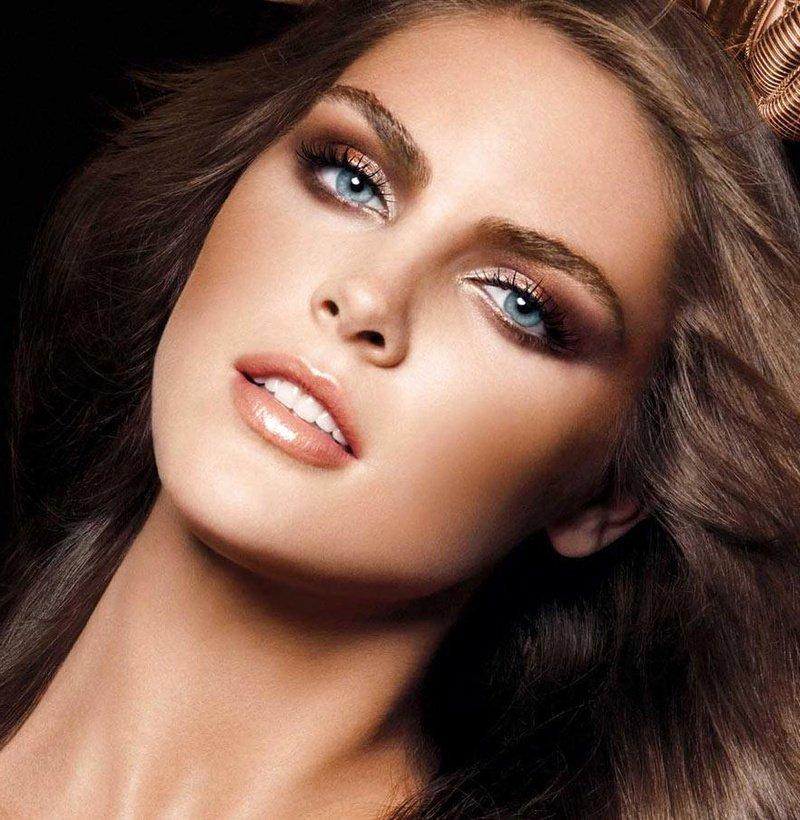 макияж с бронзовыми тенями на выпускной