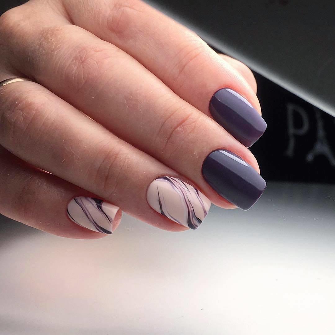 мраморный дизайн ногтей на выпускной