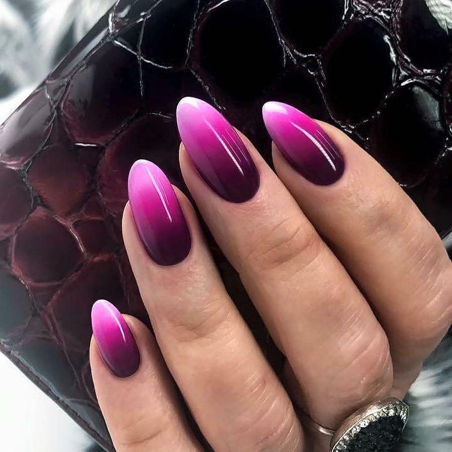 дизайн ногтей на выпускной в стиле омбре