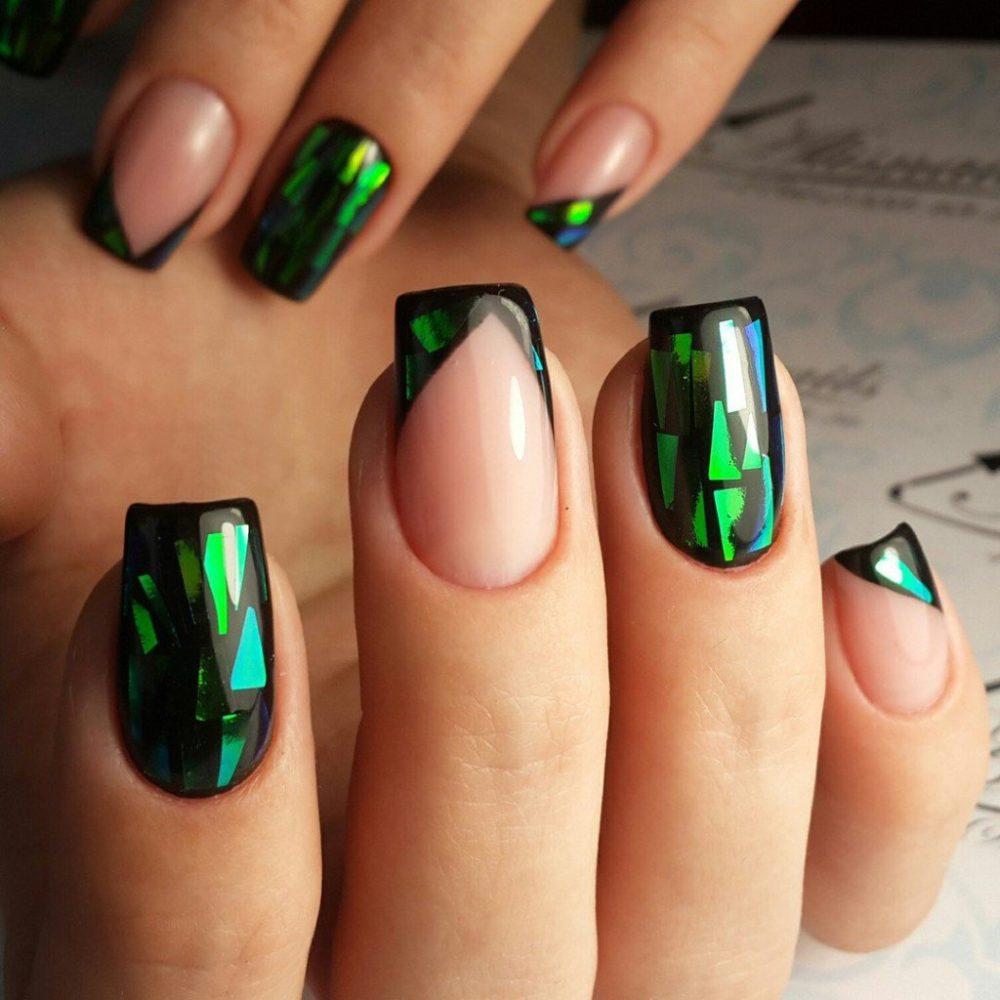 дизайн ногтей для выпускного битое стекло