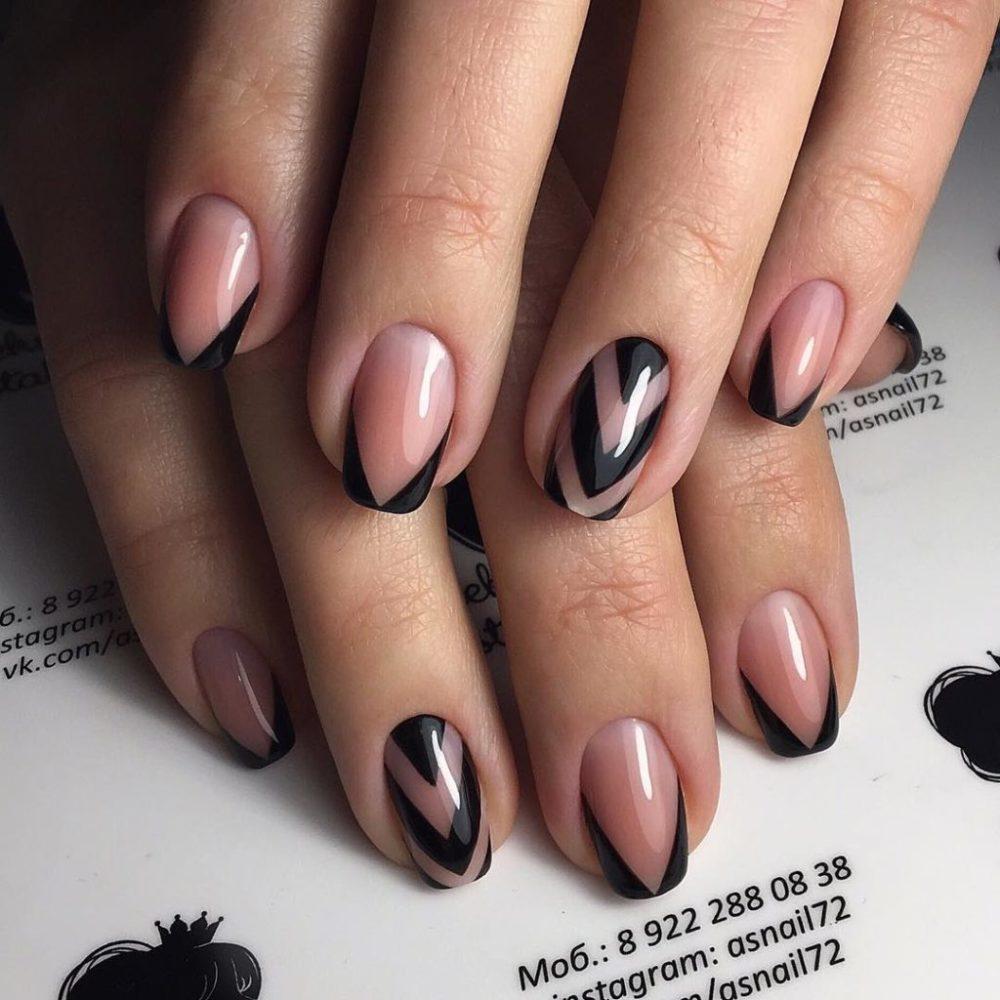 модный вариант оформления ногтей на выпускной