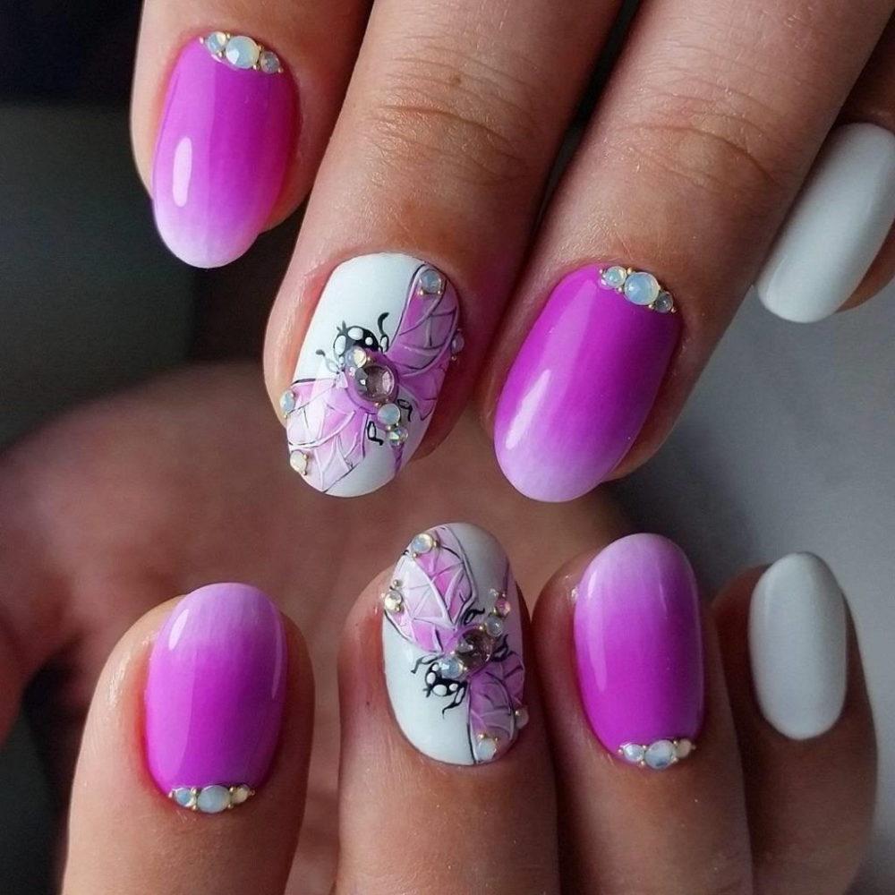 яркий дизайн ногтей для выпускного