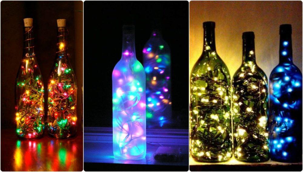 светильник из бутылки брату на 23 февраля