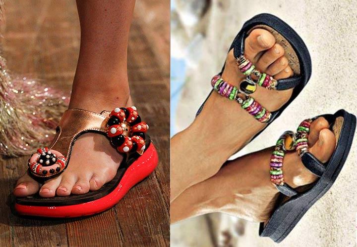 Модная пляжная обувь весна-лето 2018