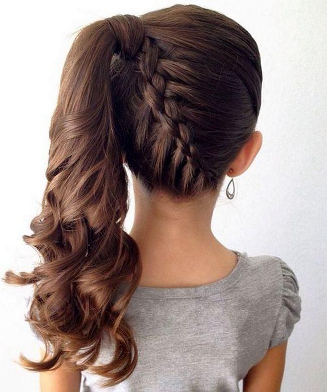 прическа на длинные волосы на 1 сентября фото