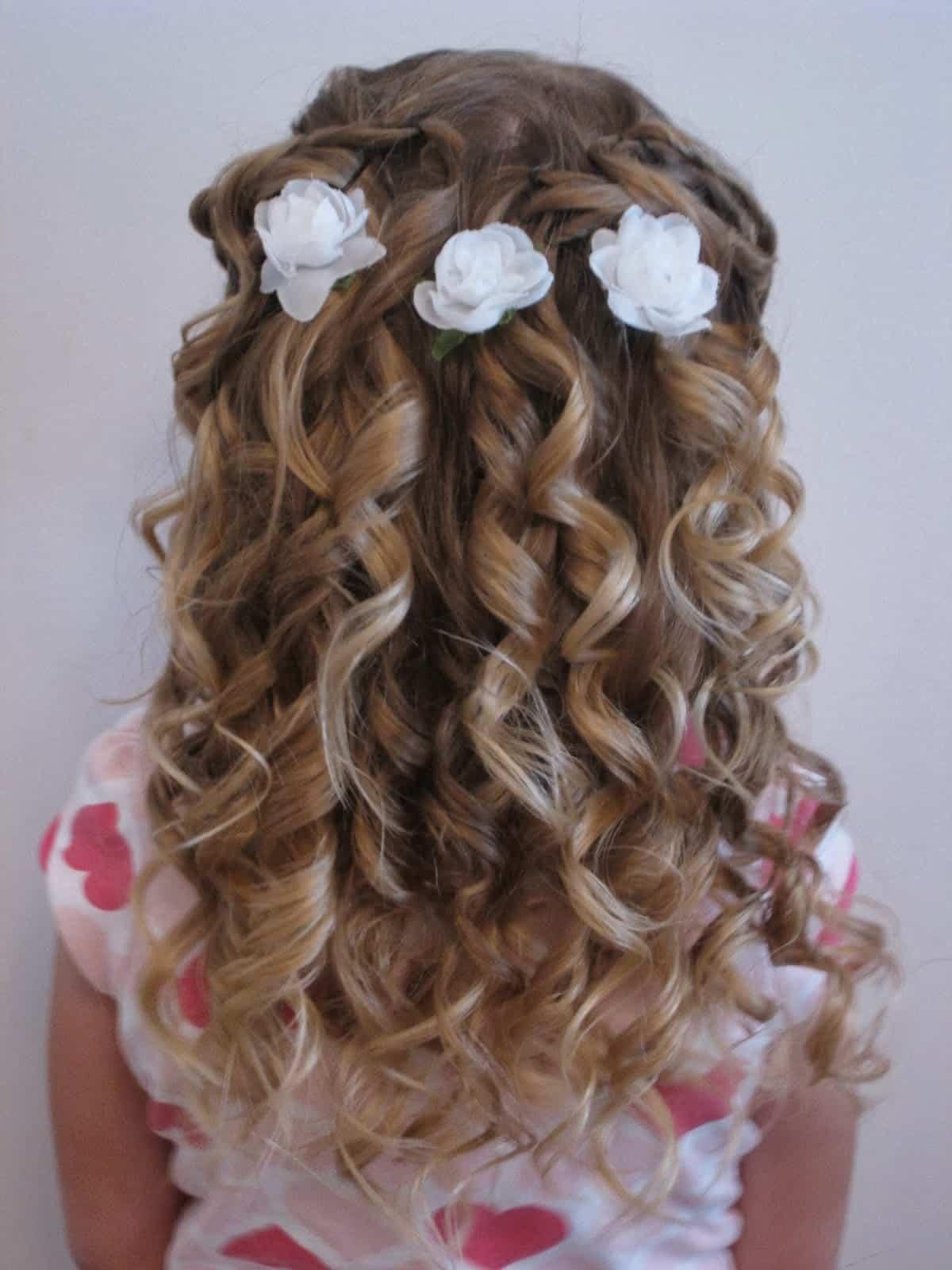 Причёска на свадьбу для девочки видео